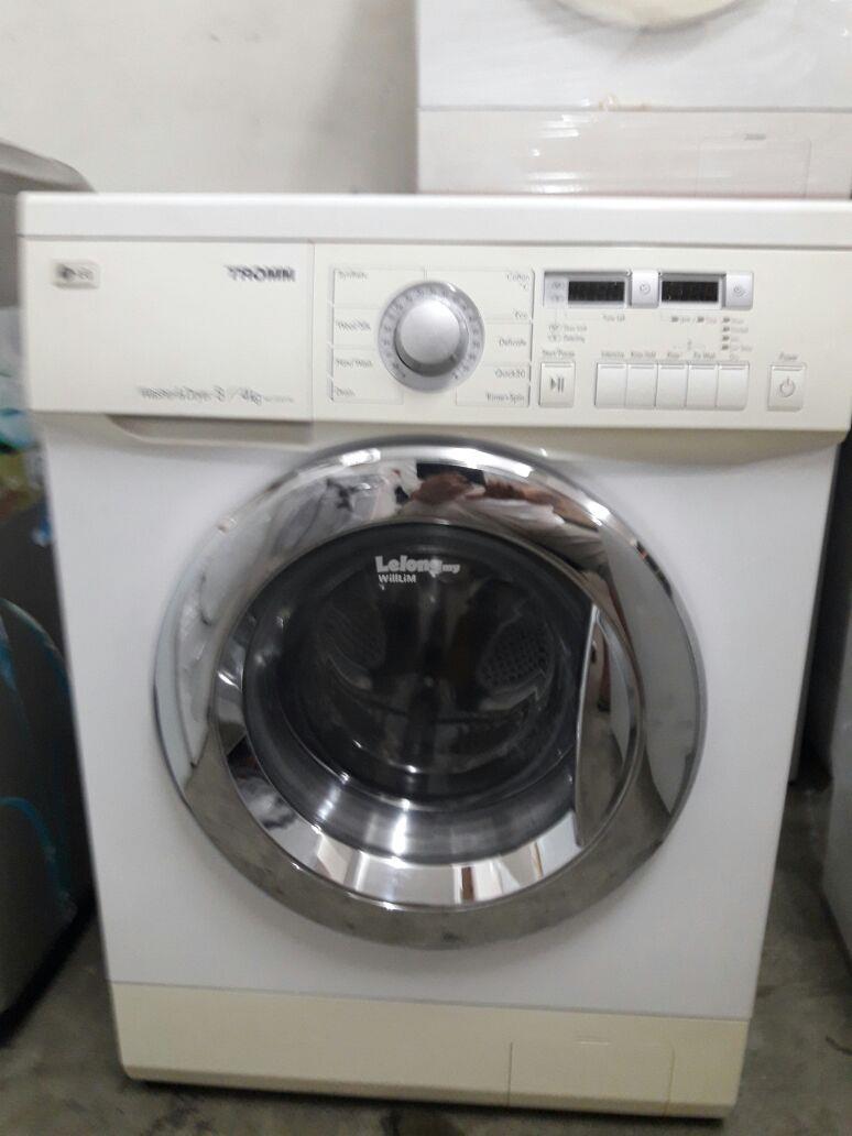 lg washer dryer combo 8kg mesin basuh kering recondition refurbish