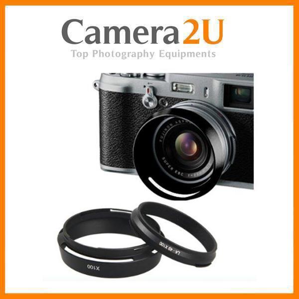 LH-X100 Lens Hood Filter adaptor for Fujifilm X100T X100s X70 Black