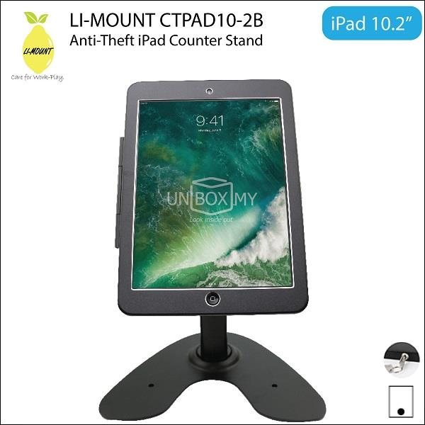 LI-MOUNT CTPAD10-2B Anti-Theft Security iPad 10.2-inch Table Stand