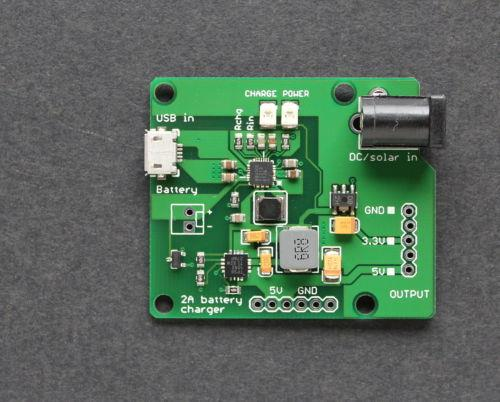 Li-PO Ion Battery Charger, 2A Power Supply w/ 5V and 3.3V Outputs UPS