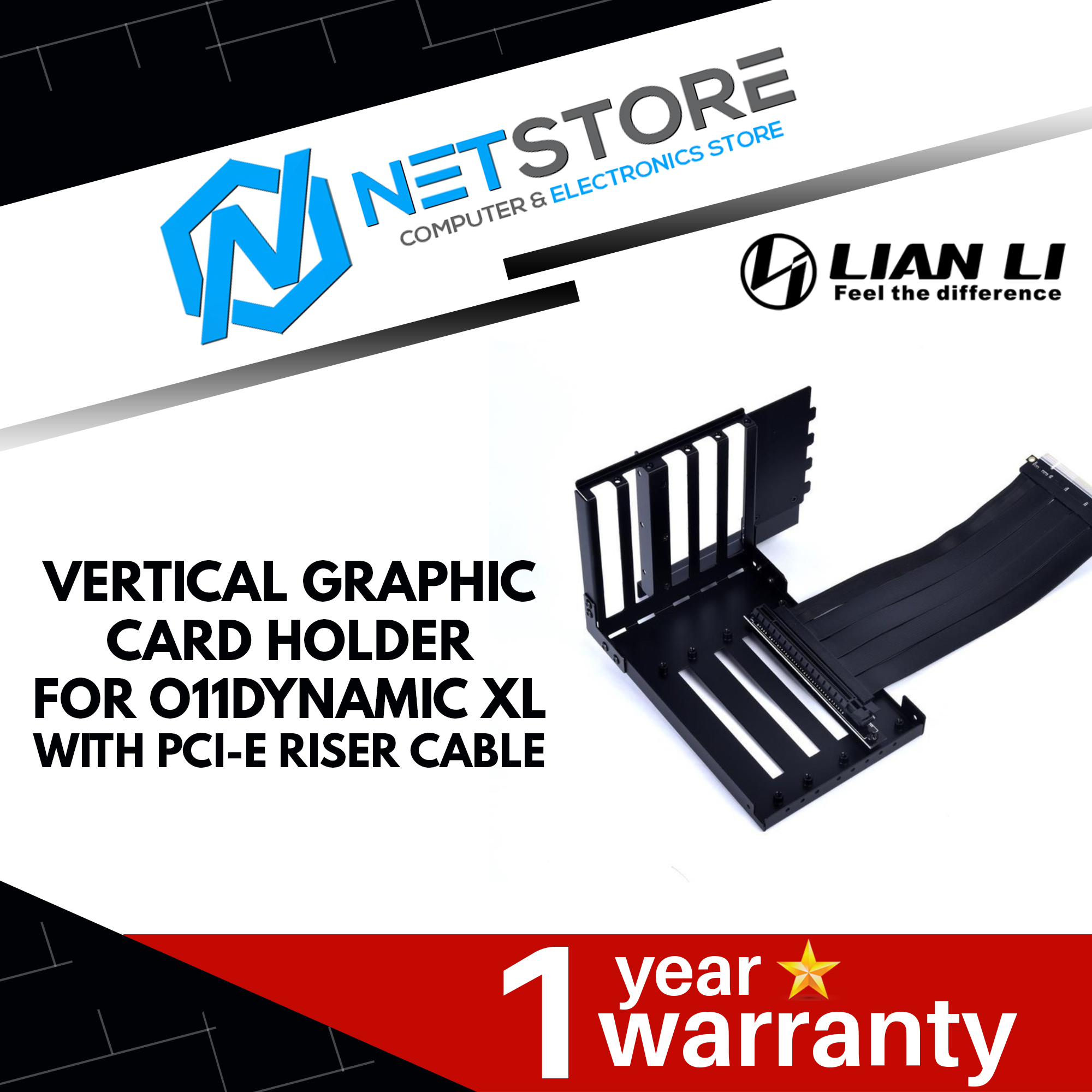 LIAN LI Vertical Graphic Card Holder with PCI-E Riser Cable O11DXL-1