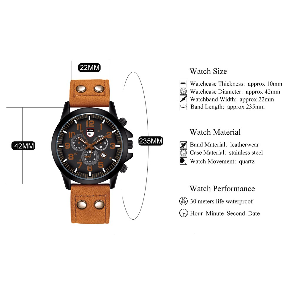 LIANDU Men's Fashion Outdoor Kids Children Adult Watch