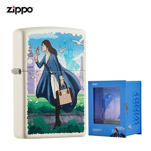 Liberty Windpool Windy Girl Limited Edition Zippo Lighter