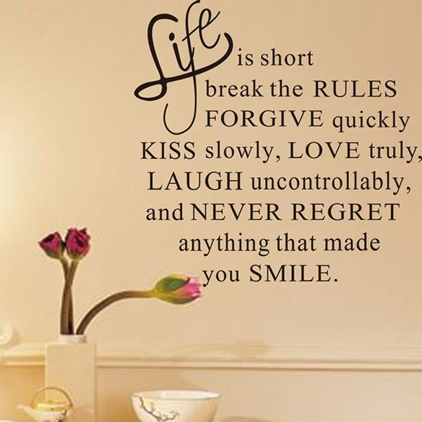 Life is Short Quote love Happy inspir (end 8/2/2021 2:15 PM)