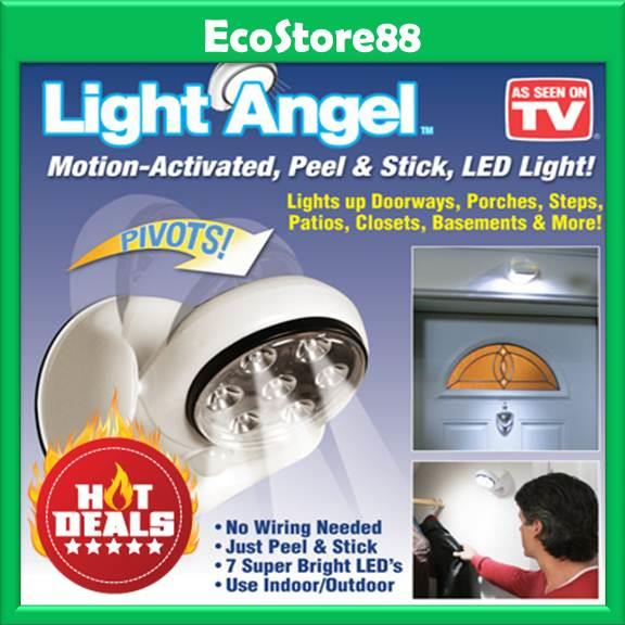 cordless indoor outdoor motion sensor led light. light angel 360 motion sensor activated cordless led indoor outdoor led