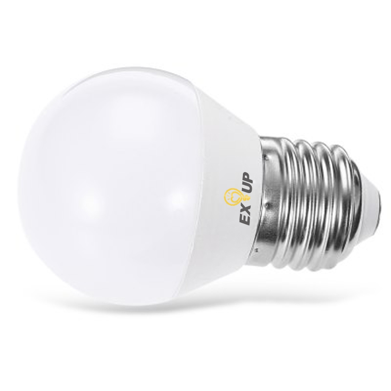 Light Bulbs - Exup 7w E27 Led Globe Bulbs G45 Smd 2835 650lm Warm Whit..