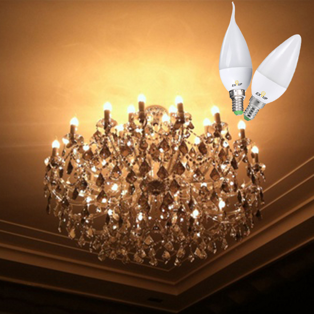 Light Bulbs - Led Bulb - Exup Ac 220v - 240v F37 7w Led E14 Candle Bul..