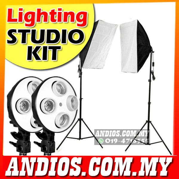 Lighting Studio Kit Photography Light Photo Video 2 Set Softbox