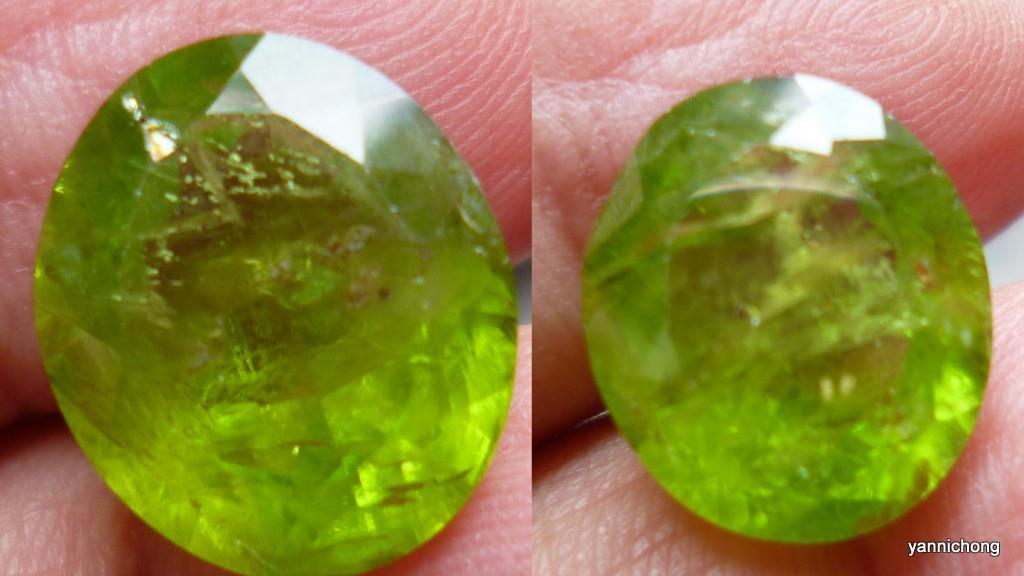 LIME GREEN FACETED PERIDOT