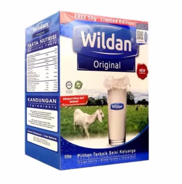 (Limited Edition Pack) Wildan Goat's Milk Original 500g + 50g