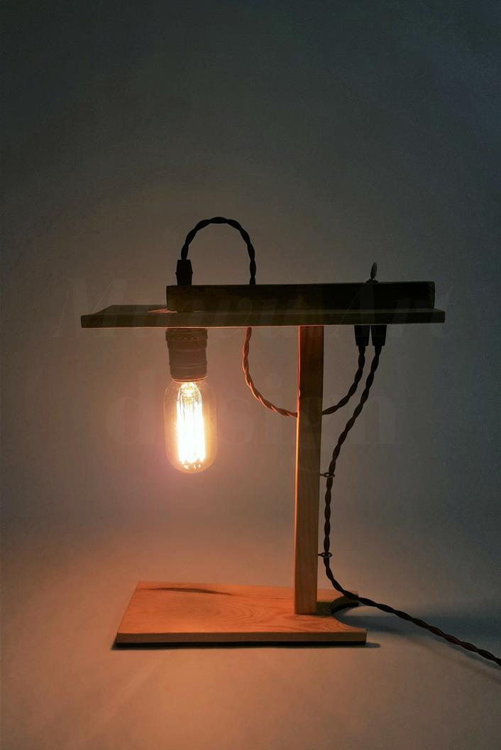 Ideal Limited Handmade Wooden Table Lamp (end 10/31/2018 10:24 PM) IT73