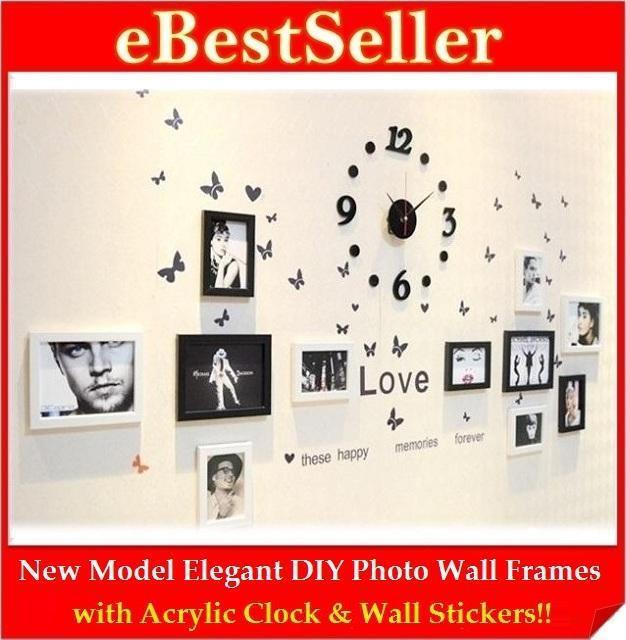 High Quality New Model DIY Photo Wall Clock Frame Home Decoration. U2039 U203a
