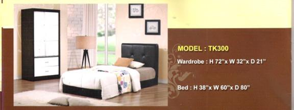 LIMITED SALE SINGLE BED WITH WARDROBE MODEL - TK300