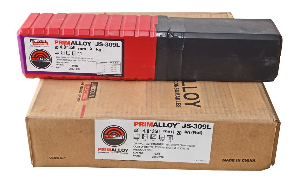 Lincoln Electric PrimAlloy JS-309L 4 0mm(20kg/Carton)