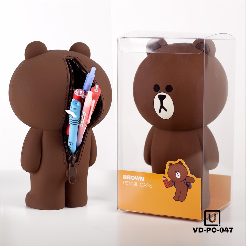 LINE Brown Bear Cute Pencil Case (end 2/2/2019 7:15 PM)