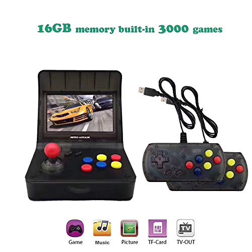 he lineee Slot Cars Retro Arcade Game Console, 4.3 inch 3000 Classic Game Cons