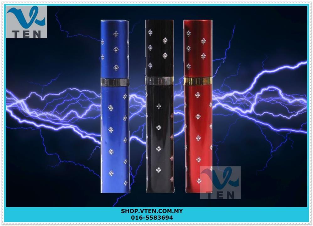 Lipstick LED Flashlight Torschlight With Stun Gun Electric Shock