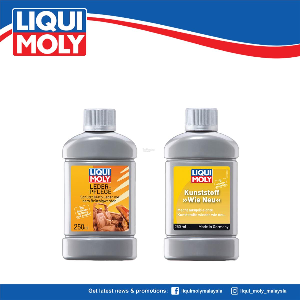 Liqui Moly Plastic 'LIKE NEW' Black & Leather Care, Car Care 1552/1554