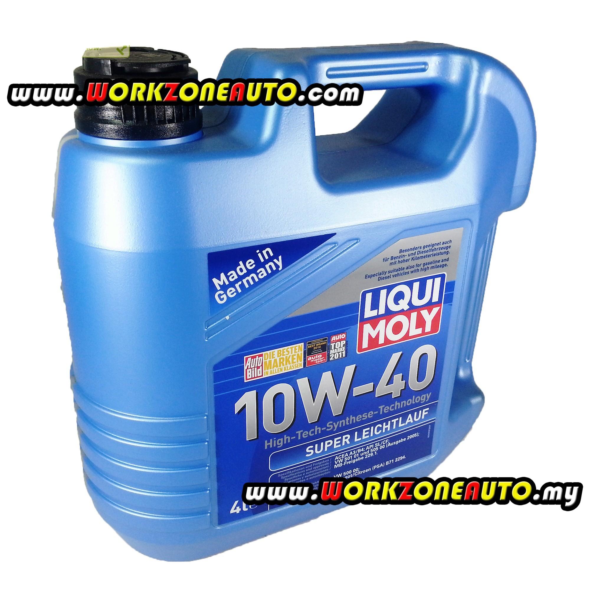 Liqui Moly Super Leichtlauf 10W40 Semi Synthetic Engine Oil 4L