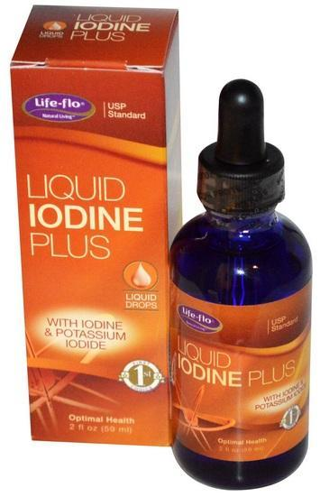Liquid Iodine Plus 59ml with Potassium Iodine 150mcg, Energy (USA)