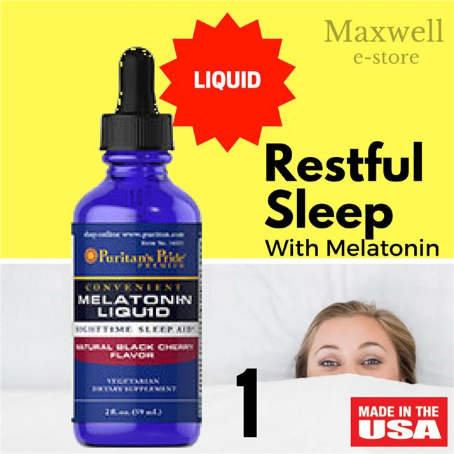 Liquid Melatonin Cherry 1 mg (59ml) (Sleeping pill, Ubat Tidur, 1mg)