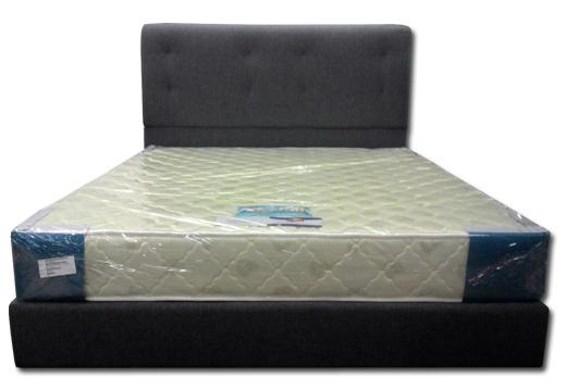 Lisa Divan Bedframe + Dunlopillo Seagull Mattress Queen Bedset