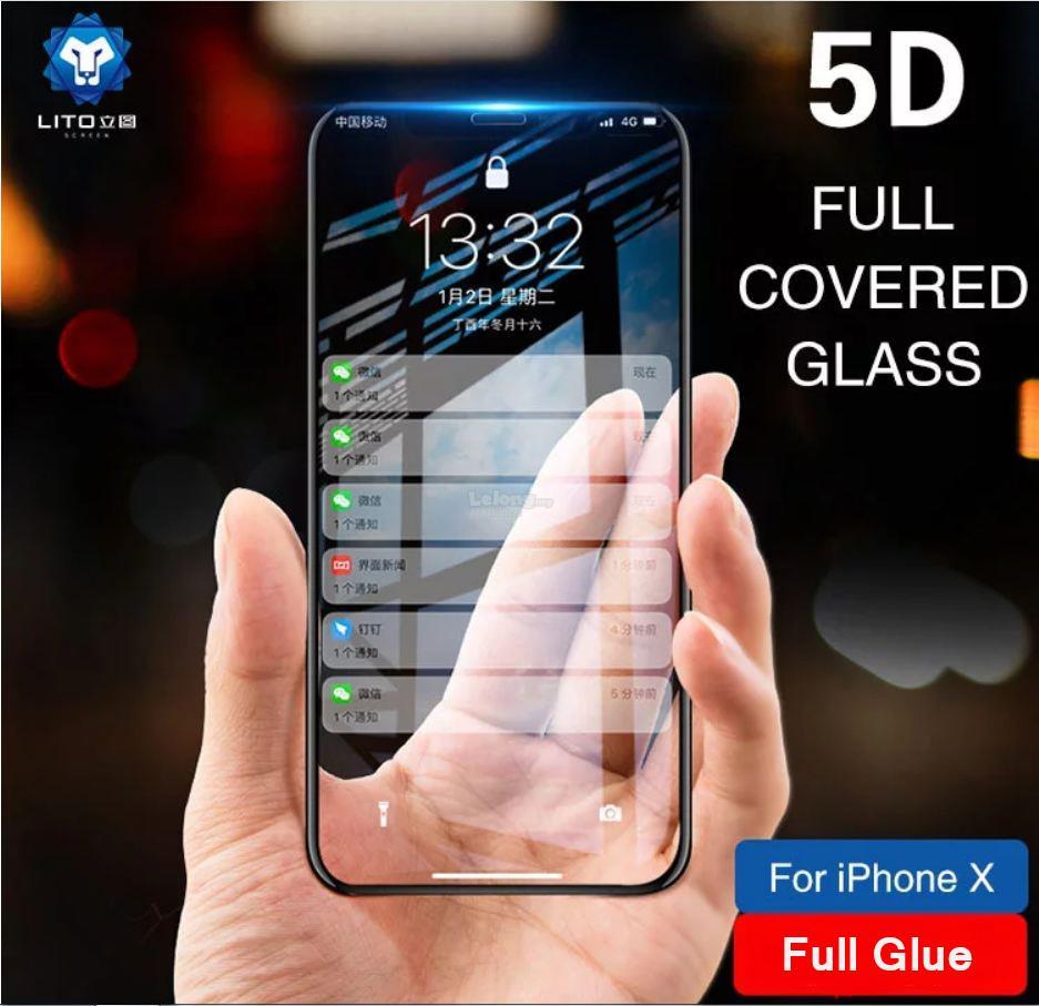 super popular c5952 b8306 LITO - Apple iPhone X / XS(FULL GLUE) 5D Full Cover Tempered Glass
