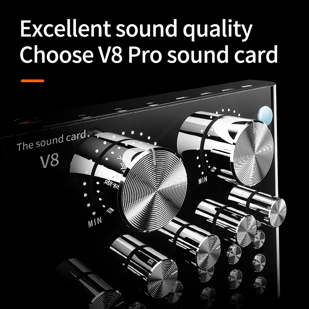 Live Sound Card V8 Pro Version External Audio  - [SEPARATE SOUND CARD]