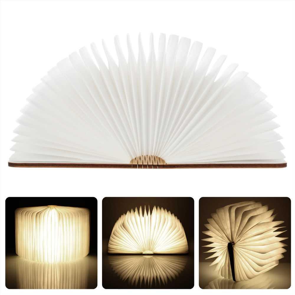 Lixada 4 5W 500LM LED Rechargeable Folding Book Light (warm white)