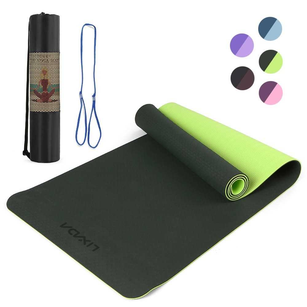 Lixada 72.05\u00d724.01in  Double Dual-colored Yoga Mat Thicken