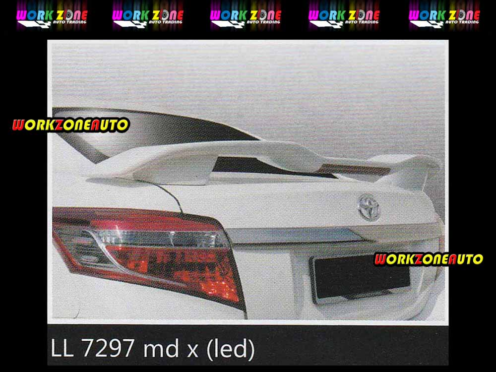 LL7297 Toyota Vios 2014 Fiber Spoiler with Led (MX)