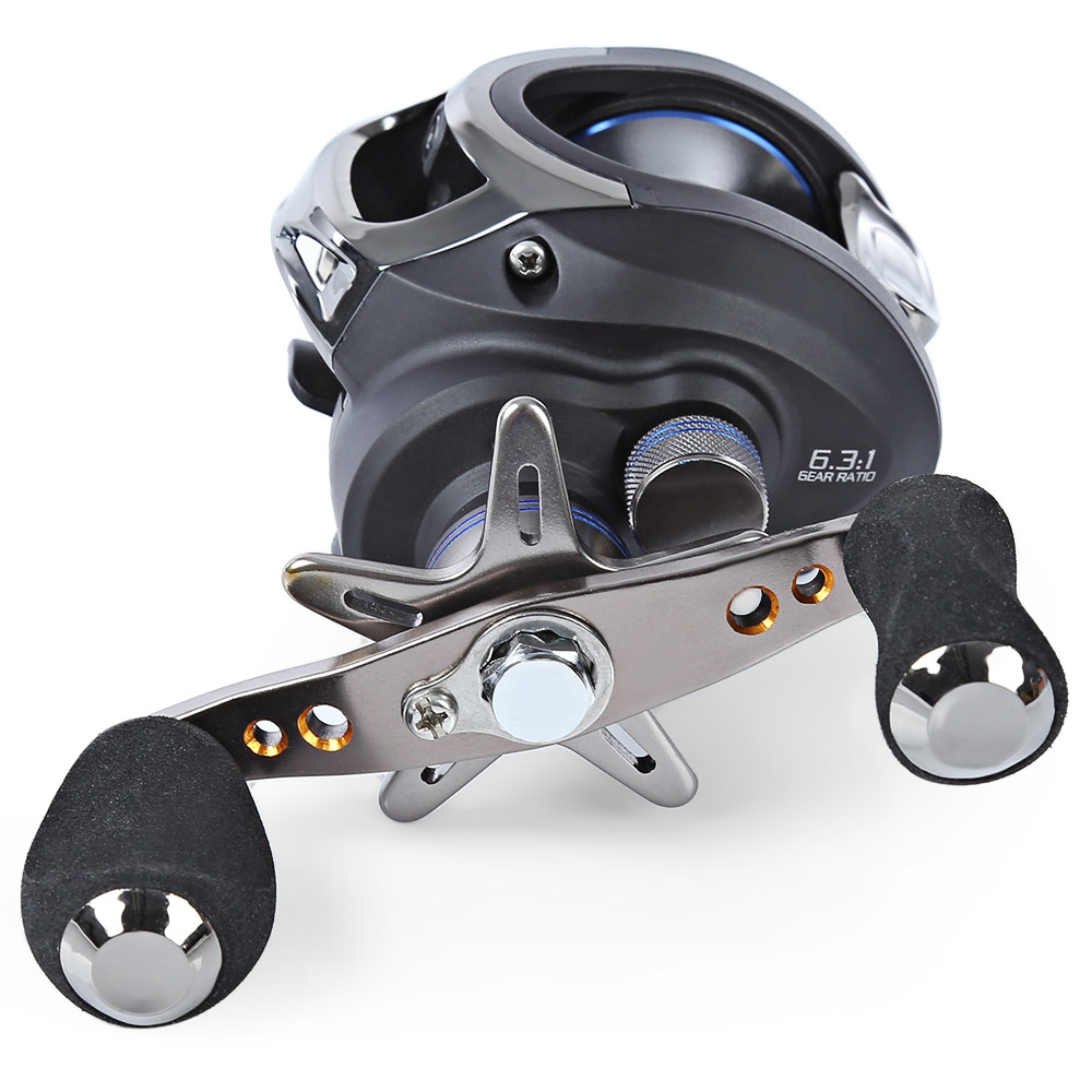 LMA200 11BB LEFT HAND BAITCASTING REEL RIVER OCEAN (BLACK)