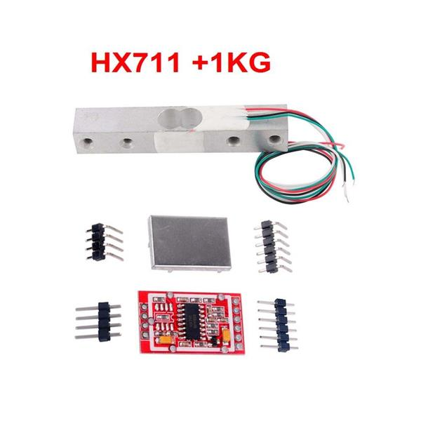 Load Cell Weight Weighing Sensor HX711 AD Module Metal Shield 1KG