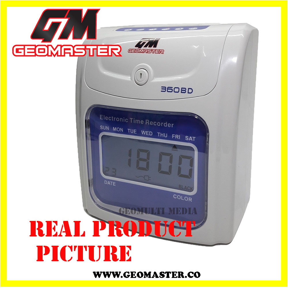LOCAL GEOMASTER 360D PUNCH CARD MACHINE -TIME RECORDER II