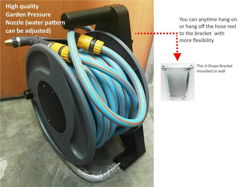 LOCKFLEX Portable Garden Hose Reel Set W/Bracket. u2039 u203a  sc 1 st  Lelong.my : hose reel set - www.happyfamilyinstitute.com