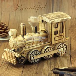 locomotive home decoration handicraft gift 木制火