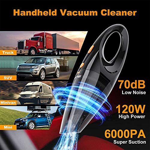 LOFTEK Car Vacuum Cordless - Handheld Portable Car Vacuum Cleaner with High Po