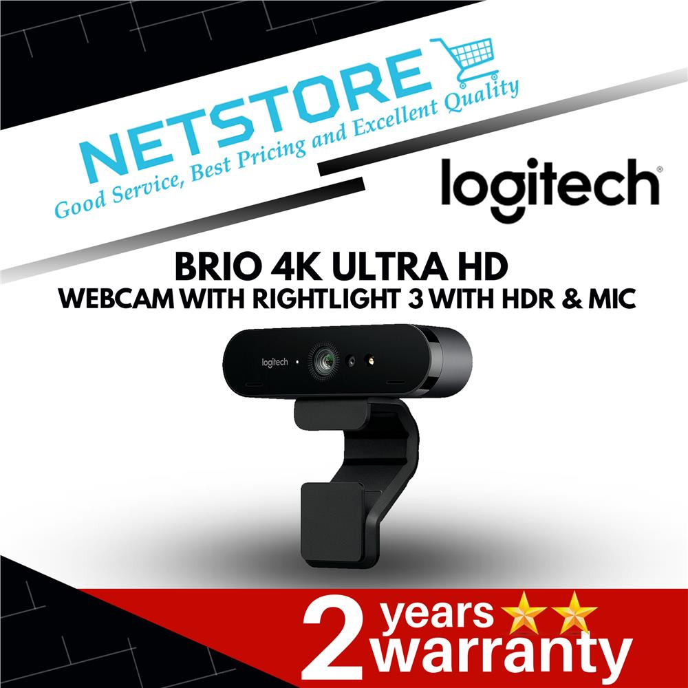 Best Webcams 2020.Logitech Brio 4k Ultra Hd Webcam With Rightlight 3 With Hdr Mic