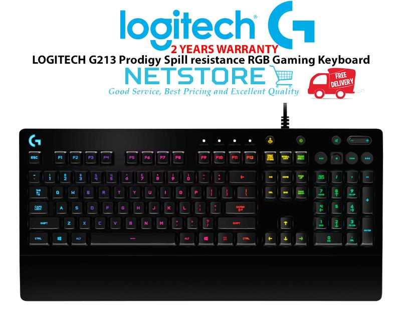 f4cab75f7d3 LOGITECH G213 Prodigy Spill resistance RGB Gaming Keyboard. ‹ ›
