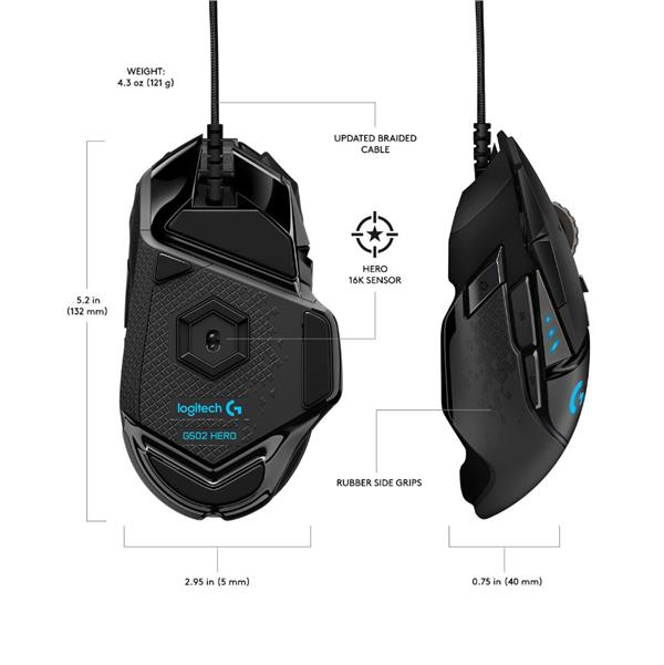 Mouse Gamer Logitech G502 Hero   Best Holiday Gifts