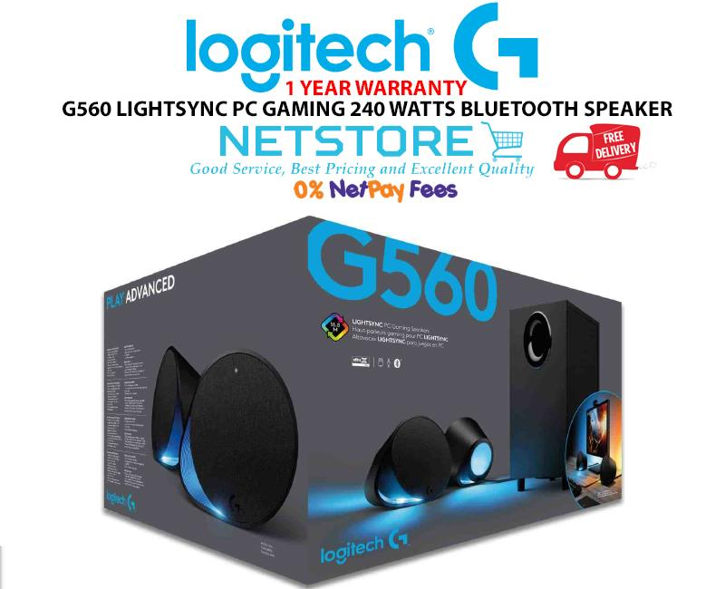9515948ff1d LOGITECH G560 LIGHTSYNC PC GAMING 240 WATTS BLUETOOTH SPEAKER. ‹ ›