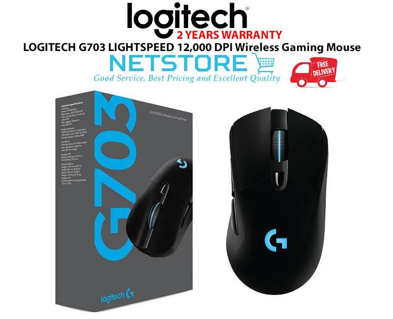 15f1b33eb67 LOGITECH G703 LIGHTSPEED 12,000 DPI Wireless Gaming Mouse - 910-005095. ‹ ›
