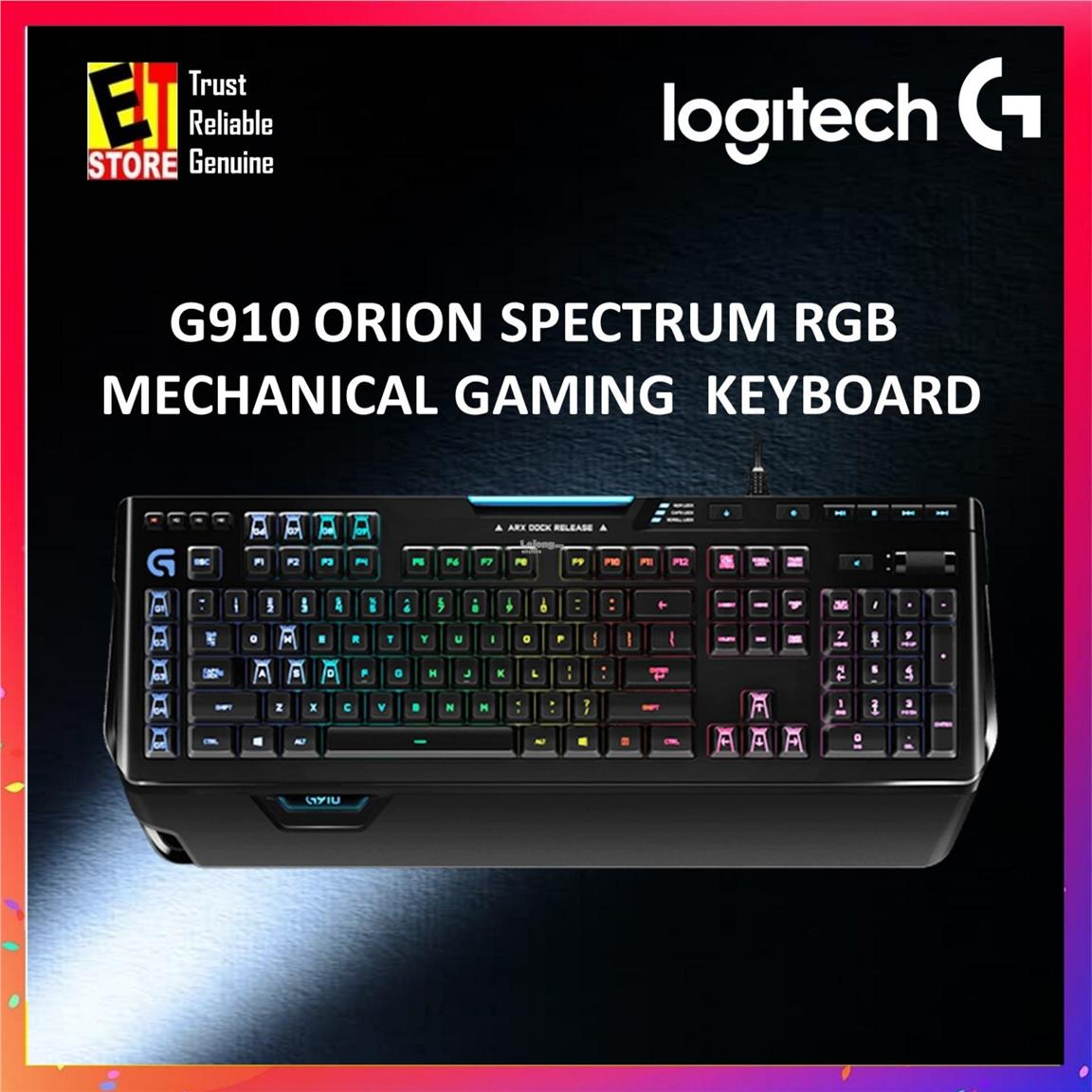 LOGITECH G910 ORION SPECTRUM RGB MECHANICAL GAMING KEYBOARD 920-008021