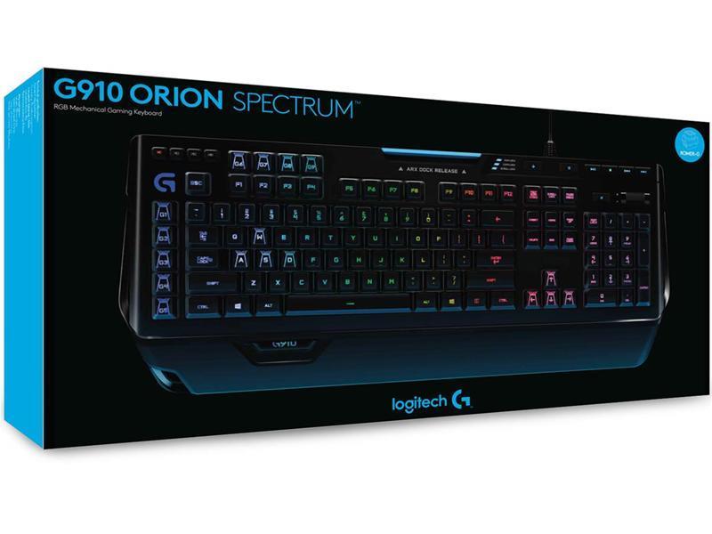 LOGITECH G910 ORION SPECTRUM RGB MECHANICAL GAMING KEYBOARD 920-008021