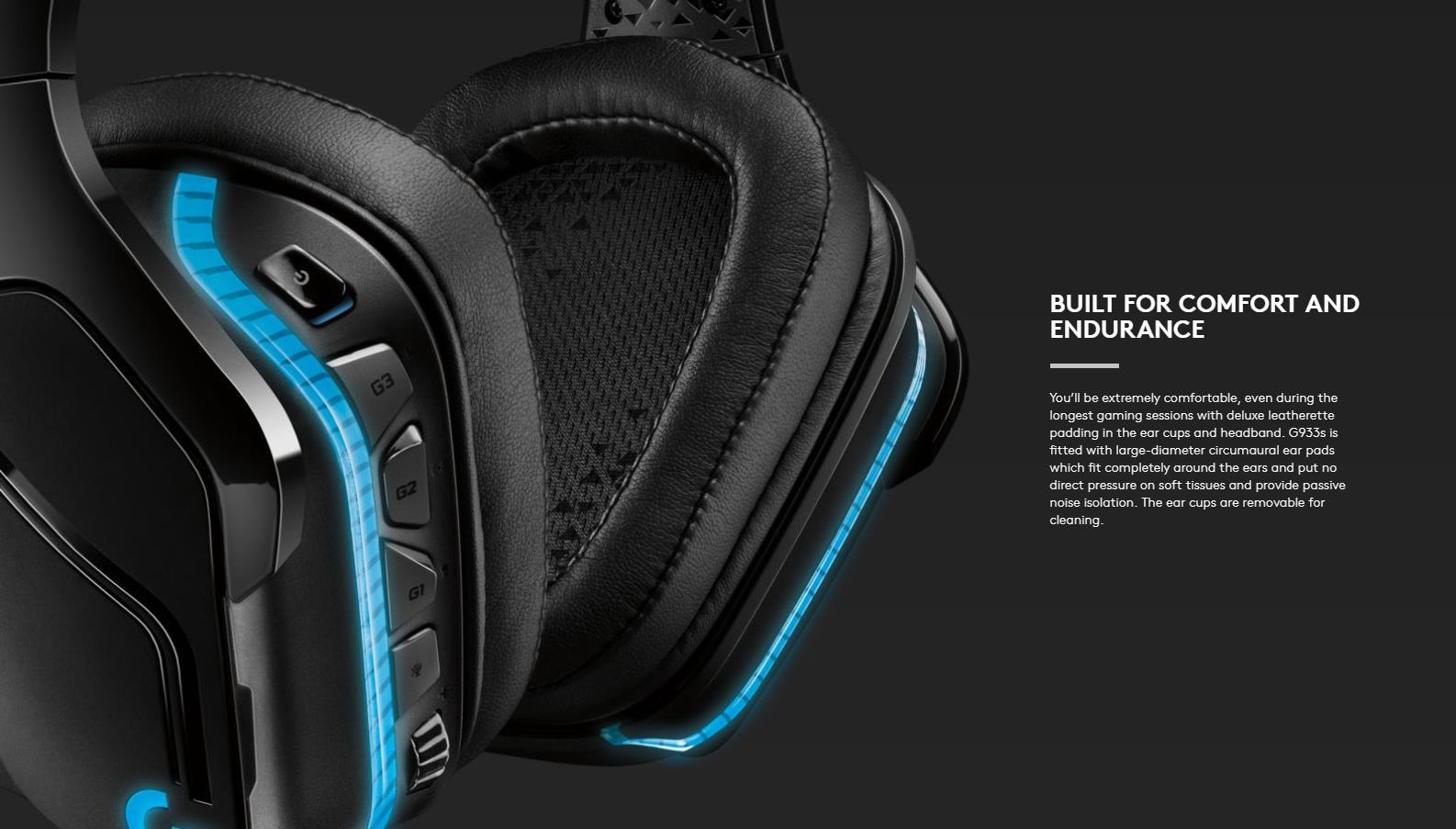 LOGITECH G933s Wireless 7 1 Surround Lightsync RGB Gaming Headset