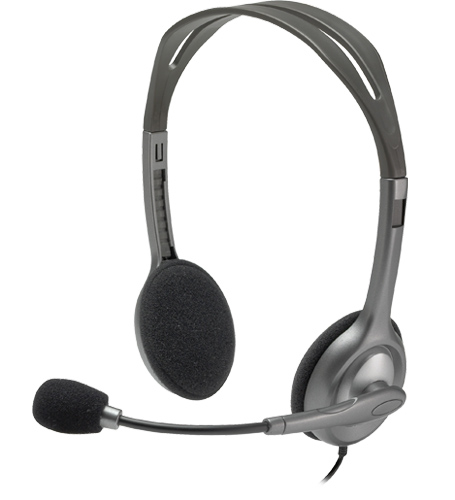 LOGITECH H111 WIRED HEADSET (981-000588) BLK