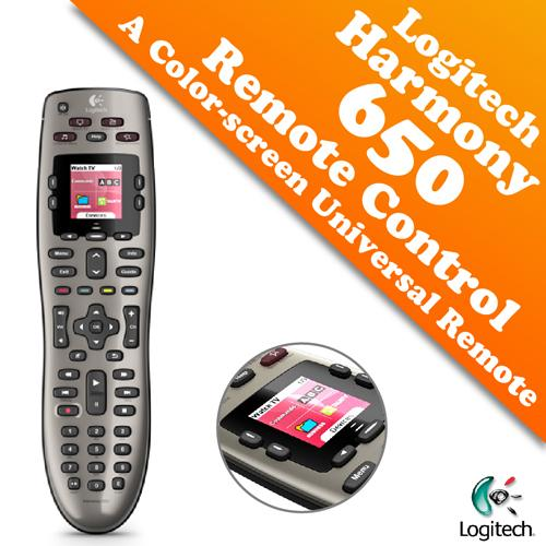 Logitech Harmony 650 Remote Control with A Color Screen
