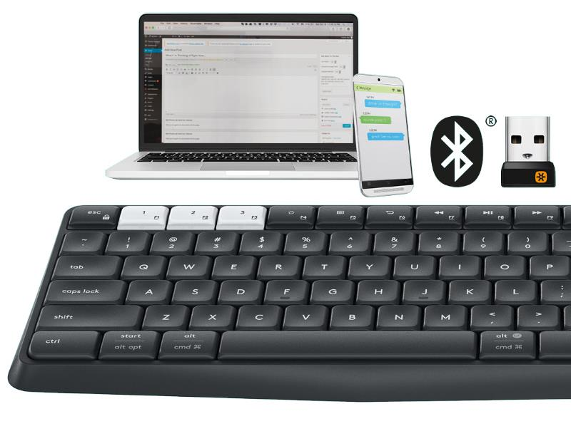 1079ab21b26 Logitech K375s Multi-Device Wireless Keyboard & Stand Combo With Mouse
