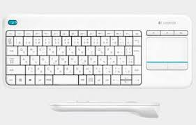 LOGITECH K400 PLUS TV WIRELESS KEYBOARD WITH TOUCH PAD 920-007166 WHT