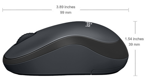 LOGITECH M221 SILENT WIRELESS MOUSE (CHARCOAL) - 910-004882